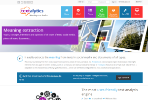 Textalytics - Meaning as a Service