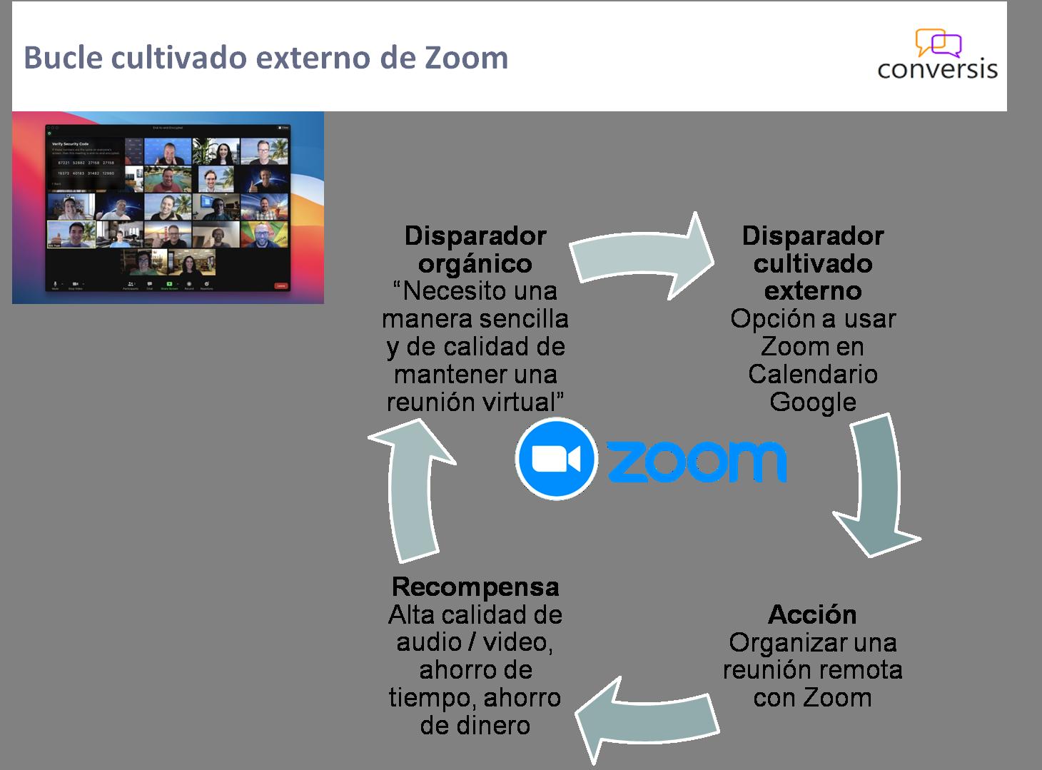 Bucle cultivado externo de Zoom