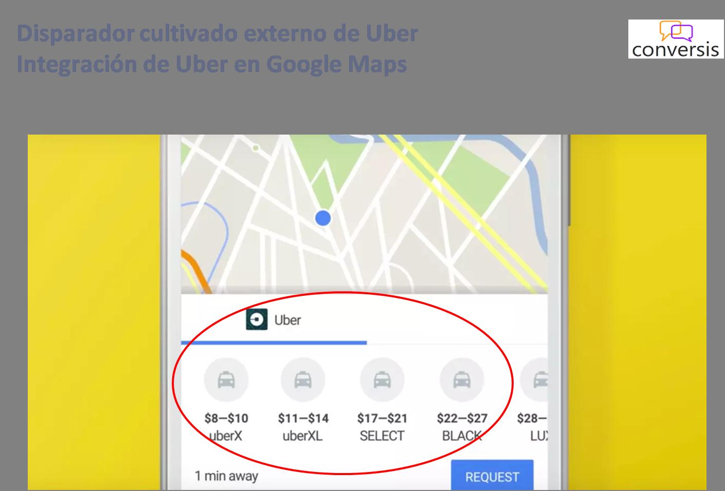 Disparador cultivado externo de Uber